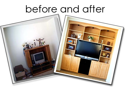 Entertainment Center remodel